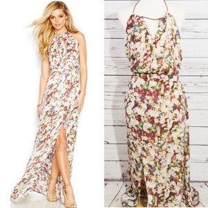 Guess Los Angeles Multi-Floral Halter Maxi Dress